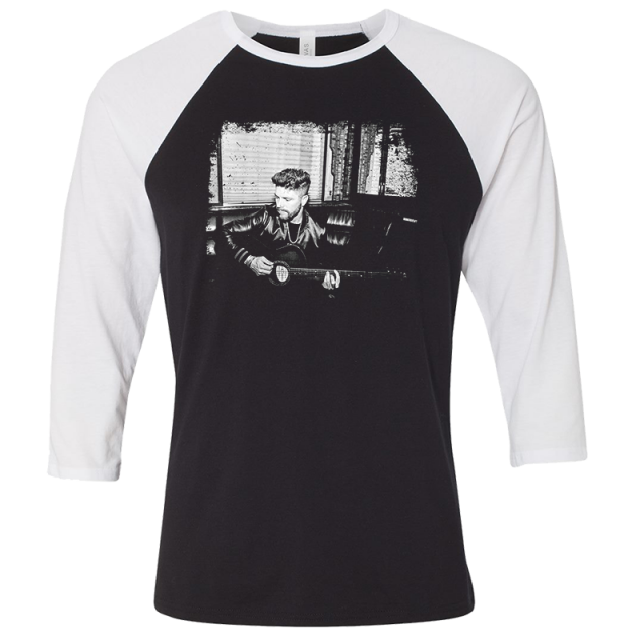 Chris Lane Black and White Raglan Tee