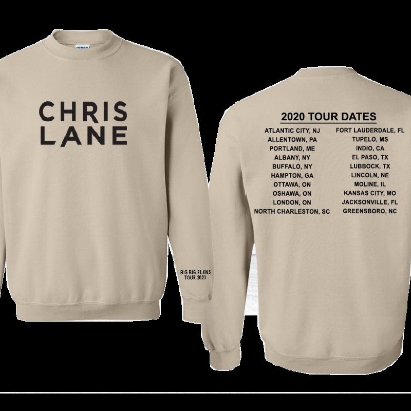 Chris Lane Sand Sweatshirt- 2020 Big Big Plans Tour