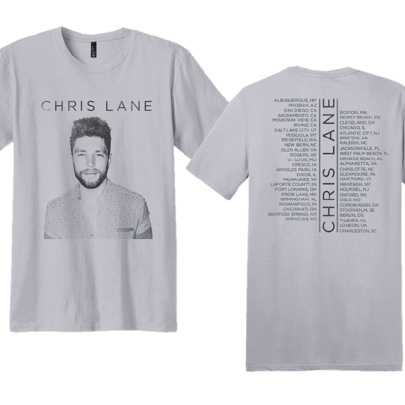 Chris Lane Unisex Silver Tour Tee