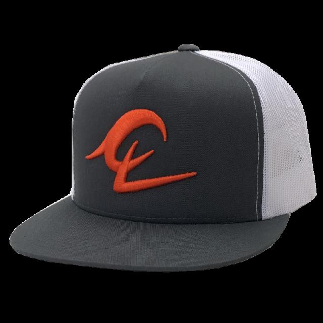 Chris Lane Grey and White Ballcap- Orange Logo