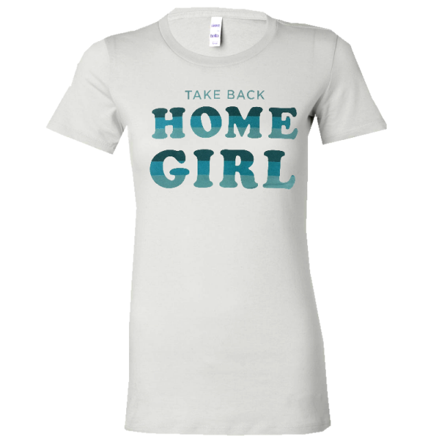 Chris Lane Ladies White Tee- Take Back Home Girl
